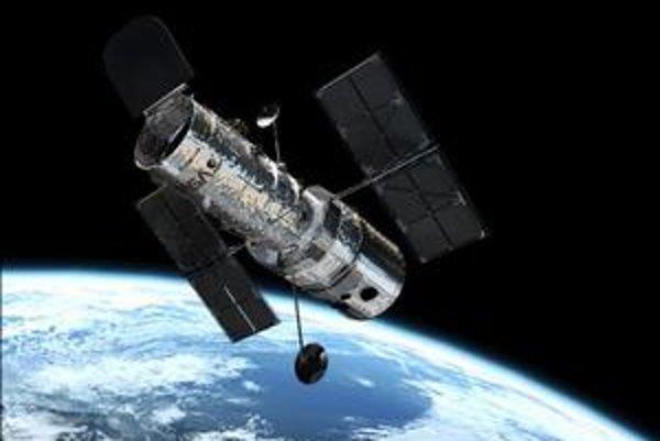 Umelecká vízia HST na orbite okolo Zeme - obieha ju po takmer kruhovej dráhe vo výške približne 600 kilometrov.