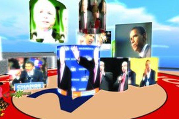 Prezidentské voľby dominovali aj vo virtuálnom svete SecondLife.