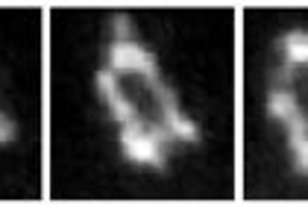 Séria mikrosnímok syntetizovaného genómu baktérie Mycoplasma genitalium nasnímaná počas 0,6-sekundy.