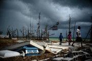 Zničené Bahamy po hurikáne Dorian.