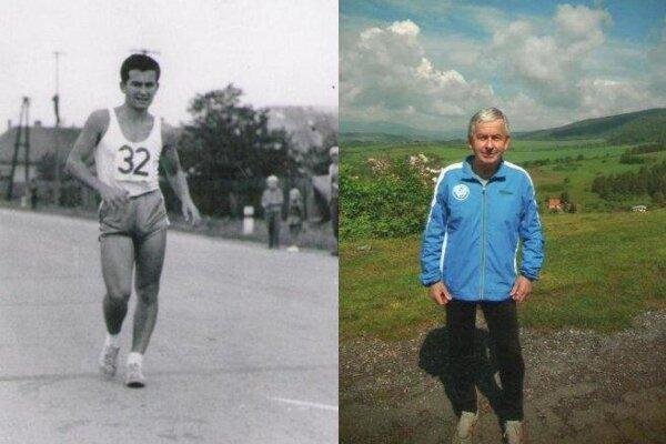Eduard Straka v roku 1963 a teraz.
