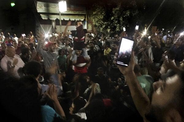 Protestujúci žiadali odstúpenie prezidenta Sísího.