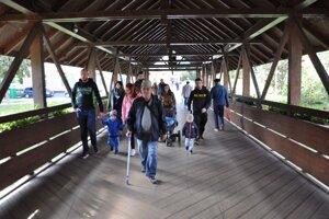 Kolonádový most je ozdobou Dolného Kubína.