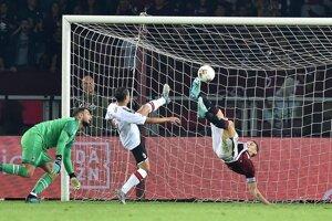 Momentka zo zápasu FC Turín - AC Miláno.