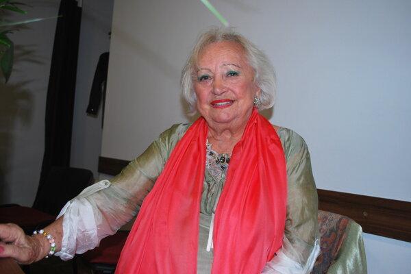 Herečka Maja Velšicová nadabovala Aladára Miazgu.