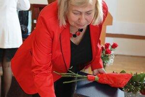 Ocenenie si prevzala aj výtvarníčka Eva Bebčáková.