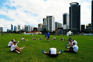 Šampionát v malom futbale sa koná priamo v centre dvojmiliónového mesta Perth.