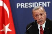 Turecký prezident Recep Tayyip Erdogan počas návštevy v Srbsku.