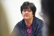 Na snímke verejná ochrankyňa práv Mária Patakyová počas tlačovej konferencie na tému: Zhodnotenie polovice funkčného obdobia verejnej ochrankyňe práv 9. októbra 2019 v Bratislave.