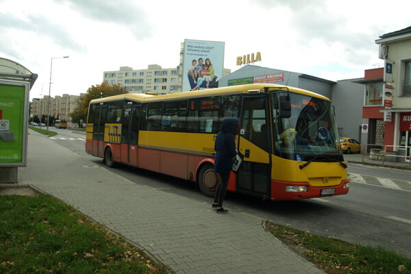 Linka MHD v Trnave.