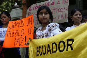 Protesty v Ekvádore.