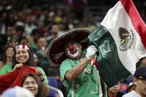Mexickí fanúšikovia na ilustračnej fotografii.
