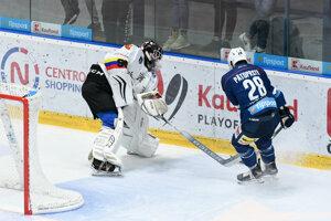 Momentka zo zápasu Nitra - Nowy Targ.