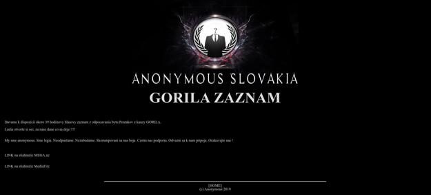 Sreenshot webovej stránky, na ktorej sa nachádzajú odkazy na stiahnutie nahrávky.