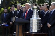 Donald Trump prijal tím St. Louis Blues v Bielom dome.