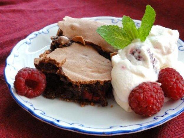 Nadýchané malinové brownies