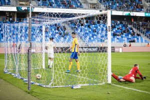 Momentka zo zápasu Slovan Bratislava - FK Pohronie.