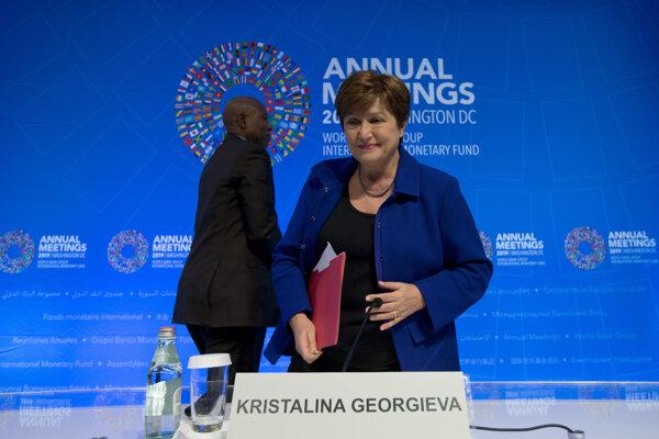 Šéfka medzinárodného menového fondu Kristalina Georgieva.