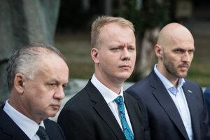 Andrej Kiska, Miroslav Beblavý a Michal Truban.
