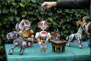 Ateliér bábkara a scénografa Miroslava Dušu.