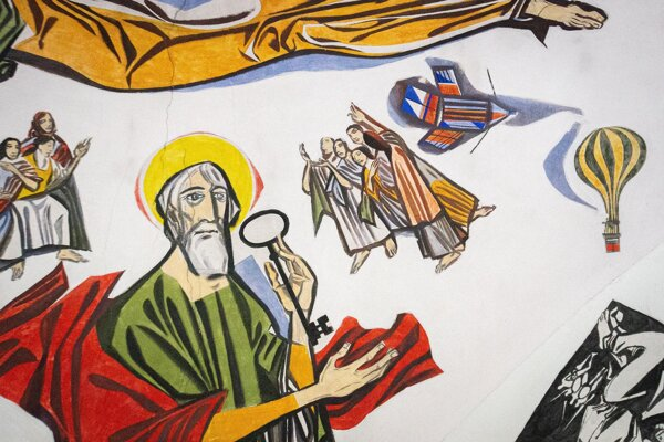Detail z kostola v Donom Hričove.