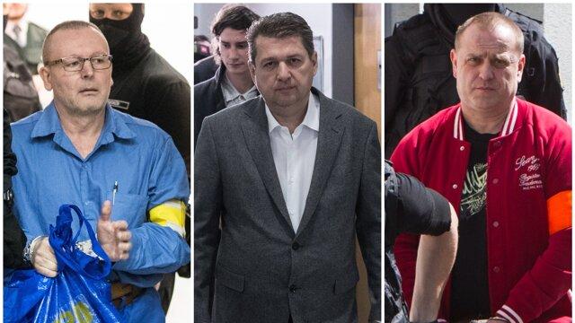 Odsúdení (zľava) Róbert Lališ, Ladislav Bašternák a František Borbély dostali okrem väzenia aj trest prepadnutia majetku.
