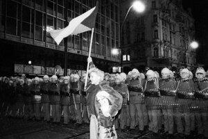 17.november 1989 v Prahe.