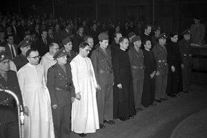 Politické procesy s kňazmi v 50. rokoch.