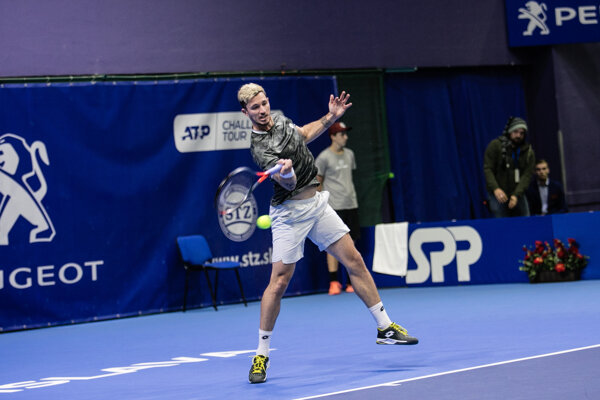 Dennis Novak počas finále Slovak Open 2019.