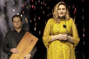Peter Brajerčík a Júlia Rázusová na ceremoniáli v Bratislave.