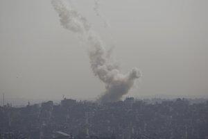 Izraelský nálet v pásme Gazy.