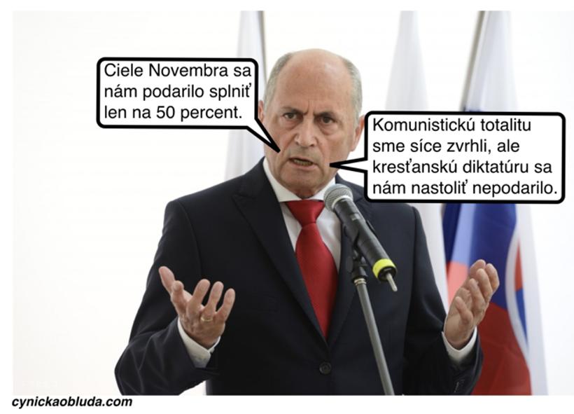 Revolúcia pol na pol (Cynická obluda) 13. novembra