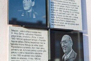 Pamätná tabuľa na dve obete komunistického režimu.