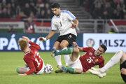 Momentka zo zápasu Maďarsko - Uruguaj.