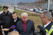 Minister prišiel do Prešova skontrolovať aj opravu križovatky Levočská - Obrancov mieru.
