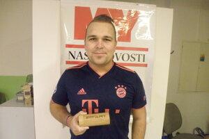 Boris Polacsek s cenou za druhé miesto