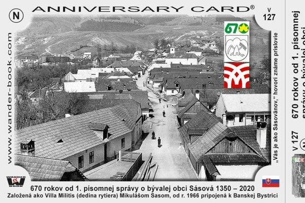 Súčasťou osláv bude aj vydania turistickej nálepky a pohľadnice s motívom starej Sásovej.