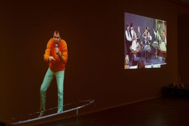 Z výstavy Ekológia túžby, na ktorej vo Východoslovenskej galérii v Košiciach vystavujú spoločne všetci piati finalisti.