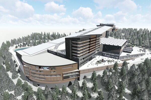 Plánovaná lyžiarska hala na Donovaloch