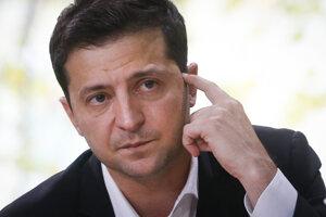 Ukrajinský prezident Volodymyr Zelensky.