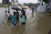 Záplavy v indickom Tamilnádu.