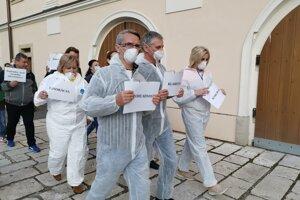 Druhý protest obyvateľov meste v uliciach Levoče.