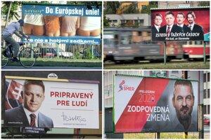 Takto sa menili predvolebné billboardy strany Smer.