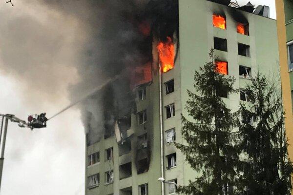 Výbuch plynu na Mukačevskej ulici v Prešove.