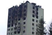 Panelák v Prešove po výbuchu.