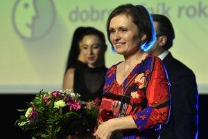 Ocenená Martina Pometlová ako firemný dobrovoľník.