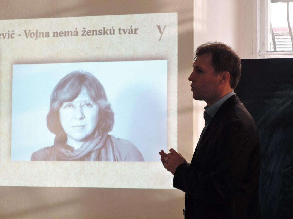 Autorka knihy Vojna nemá ženskú tvár a držiteľka Nobelovej ceny Svetlana Alexijevič.