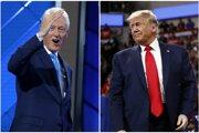 Exprezident Bill Clinton (vľavo) a súčasný šéf Bieleho domu Donald Trump.