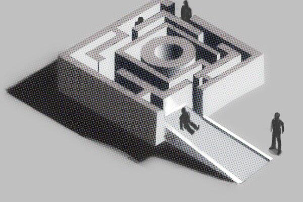 Takto by mal vyzerať snehový labyrint.
