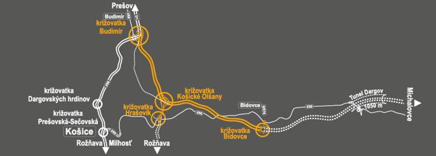 D1 Budimír - Bidovce